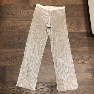 Victoria's Secret Metallic Wide Leg Pants